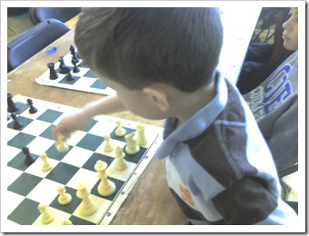 Connor playing Chess